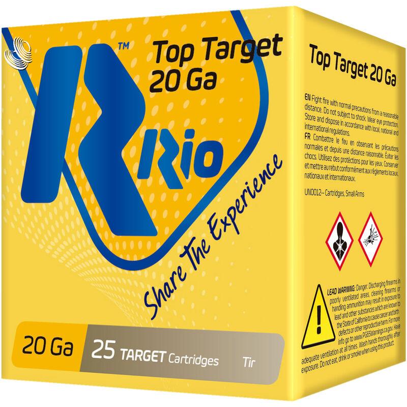 "RIO Ammunition Top Target 20 Gauge Ammunition 250 Rounds 2-3/4"" Shell #9 Lead Shot 7/8oz 1250fps"