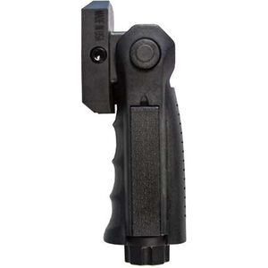 JE Machine AR-15 Folding 5 Position Fore-Grip Ergonomic Ambidextrous with Universal Pressure Switch Polymer Black