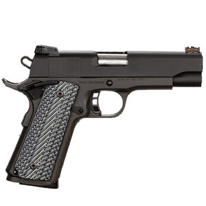 "Rock Island Armory Rock Series Ultra Mid-Size 1911 Semi Auto Pistol .45 ACP 4.25"" Barrel 8 Rounds Fiber Front/Adjustable Rear Sights G10 Grips Parkerized Matte Black"