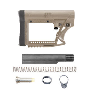 Luth-AR MBA-4F Stock Assembly With Mil-Spec .223 Buffer Kit Dark Earth MBA-4FK-M