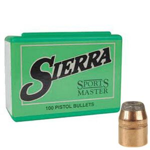 "Sierra .44 Caliber .4295"" Diameter 180 Grain Sports Master Jacketed Hollow Point Bullets 100 Count"