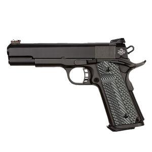 "Rock Island Armory ROCK Ultra FS 1911 Semi Auto Pistol 10mm Auto 5"" Barrel 8 Rounds Synthetic G10 Grip Parkerized Matte Black Finish"