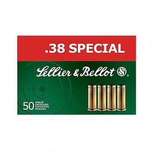 Sellier & Bellot .38 Special Ammunition 50 Rounds LFN 158 Grains SB38L
