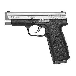 "Kahr Arms TP45 Semi-Automatic Pistol, .45 ACP, 4.04"" Barrel, 7 Rounds, Black Polymer Frame, Matte Stainless Steel Slide, White Bar Dot Sights TP4543"