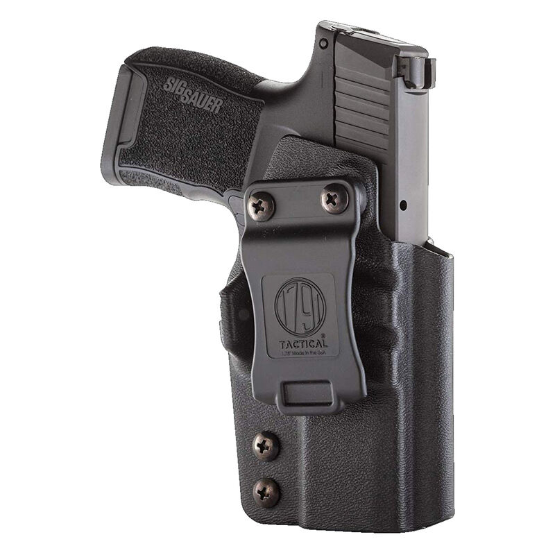1791 Gunleather Tactical Kydex Multi-Fit IWB Holster for SIG Sauer P365 Semi Auto Pistols Right Hand Draw Kydex Black
