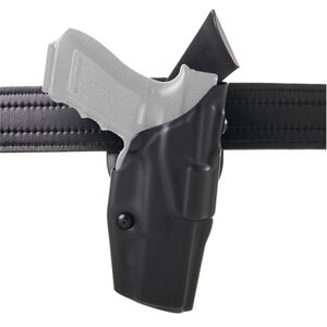 Safariland Model 6390 ALS Mid-Ride Duty Holster Level I Retention Right Hand Fits S&W M&P 9/40 with Light Hardshell STX Hi-Gloss Black