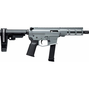 "Angstadt Arms UDP-9 9mm Luger AR Style Semi Auto Pistol 6"" Barrel 17 Rounds Uses GLOCK Style Magazines Free Float M-LOK Handguard SBA3 Adjustable Pistol Brace Gray Cerakote Finish"