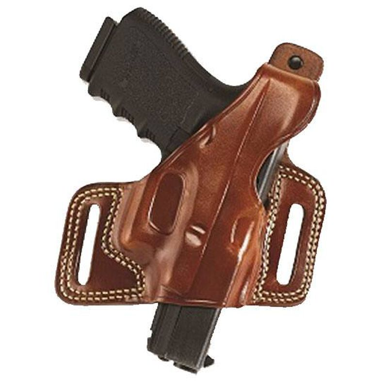 """Galco Silhouette Hide Ride Holster Springfield XD/XDM 9/40/45 Reinforced Thumb Break Right Hand 1.75"""" Belt Loops Premium Saddle Leather Tan SIL446"""