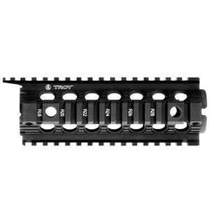 Troy Industries AR-15 Enhanced Carbine Length Two-Piece Drop-In Rail System Aluminum Black SRAI-DID-D7BT-00
