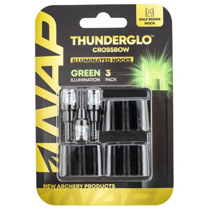 New Archery Products Thunderglo Lighted Nock Green 3 Pack for Crossbows