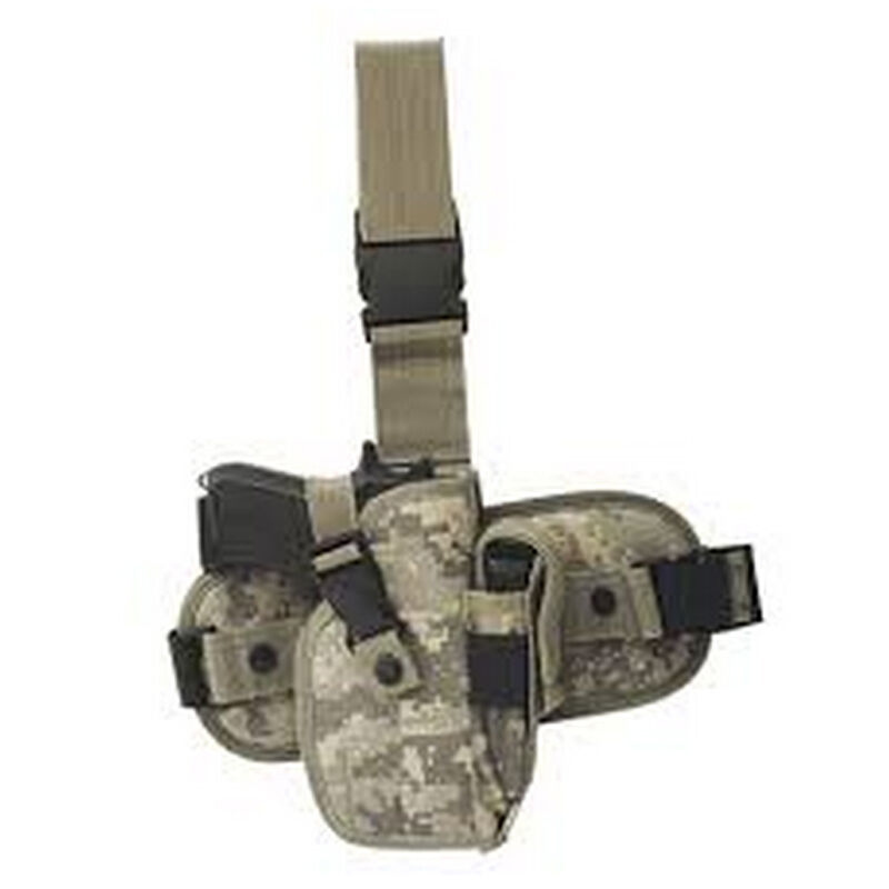 Voodoo Tactical Drop Leg Platform with Removable Large Frame Auto Holster Right Hand Army Digital 25-0013075000