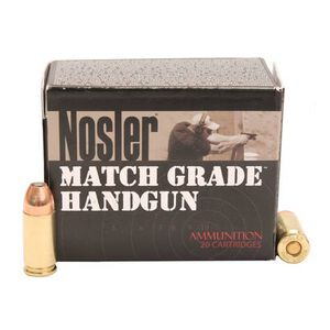 Nosler 9mm Luger 20 Rounds Match JHP 124 Grains