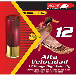 """Aguila 12 Gauge Ammunition 250 Shells, 1 1/4 Ounces, #6 Lead, 2 3/4"""""""