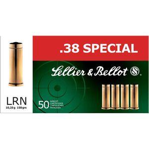 Sellier & Bellot .38 Special Ammunition 50 Rounds LRN 158 Grains SB38A
