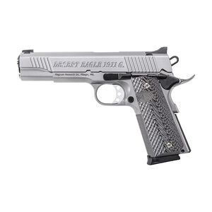 "Magnum Research Desert Eagle 1911 G .45 ACP Semi Auto Pistol 5.01"" Barrel 8 Rounds Dovetail Sights G10 Grip Matte Stainless Steel Finish"