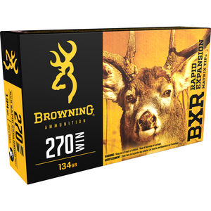 Browning BXR .270 Winchester Ammunition 200 Rounds BXR 134 Grains B192102701