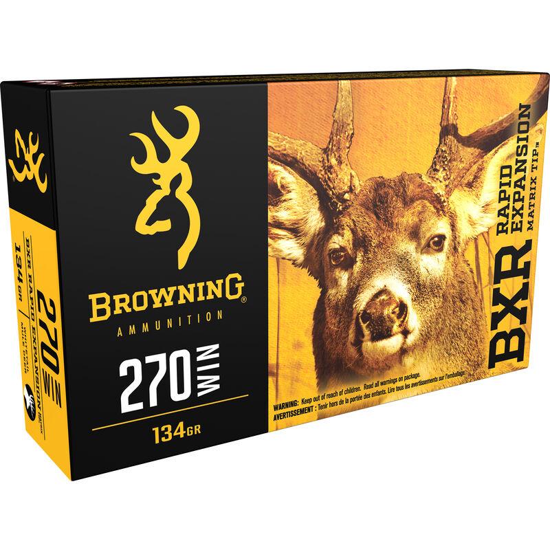 Browning BXR .270 Winchester Ammunition 200 Rounds BXR 134 Grains B192102701