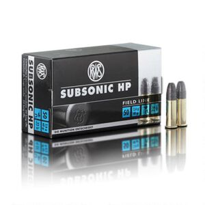 RWS Subsonic .22 LR Ammunition 50 Rounds 40 Grain HP 1033 fps