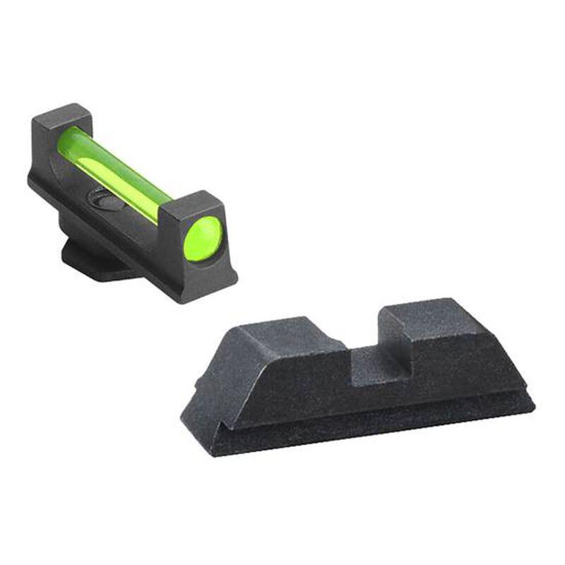 Ameriglo  GLOCK 17, 19, 22, 23, 24, 26, 27, 33, 34, 35, 37, 38, 39 Combo Fiber Optic Sight Set Green Front Black Rear GFB-114