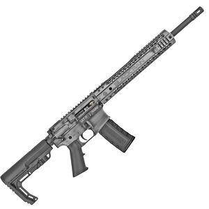 "Black Rain Ordnance SPEC15 5.56 NATO AR-15 Semi Auto Rifle 16"" Barrel 30 Rounds Free Float Hybrid Hand Guard Collapsible Stock Gray"