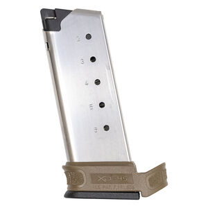 Springfield Armory XD-S Mod.2 6 Round Magazine .45 ACP With X-Tension Sleeve FDE XDSG5006FDE