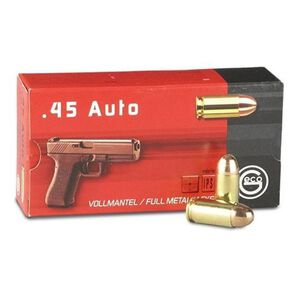 GECO .45 ACP Ammunition 230 Grain Full Metal Jacket 835 fps