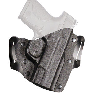 DeSantis The Intimidator 2.0 SIG Sauer P365 OWB Holster Right Hand Leather and Kydex Black
