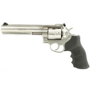 """Ruger GP100 KGP-141 .357 Magnum Revolver 6"""" Barrel 6 Rounds Black Hogue Monogrips Stainless Steel"""
