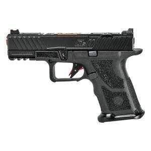 "ZEV Technologies OZ9C Elite 9mm Luger Compact Semi Auto Pistol 4"" Match Grade Barrel 15 Rounds Fixed Sights Optics Cut Polymer Frame Black"