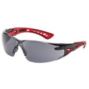 RUSH + Safety Glasses Smoke Lens Red/ Black Frame
