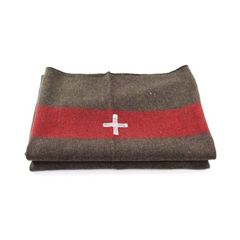Wool Blend Swiss Army Reproduction Blanket 60x84""