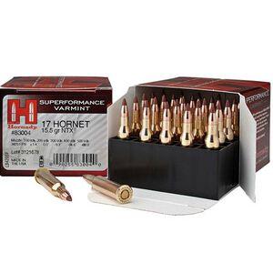 Hornady Superformance .17 Hornet Ammunition 25 Rounds NTX 15.5 Grains 83004