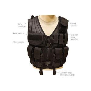 Red Rock Tactical Assault Vest OSFM 600D Polyester Black
