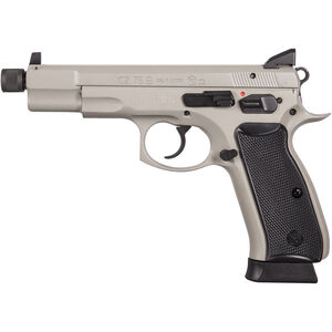 "CZ-USA 75B Omega 9mm Luger Semi Auto Handgun 5.11"" Threaded Barrel 18 Rounds Urban Grey"