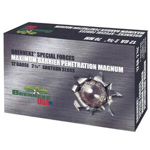 Brenneke 12 Gauge Special Forces Maximum Barrier Penetration Magnum Ammunition, 5 Rounds, 2 3/4""