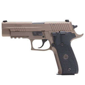 "SIG Sauer P226 Emperor Scorpion Semi Automatic Handgun 9mm Luger 4.4"" Barrel 15 Rounds Tall SIGLITE Night Sites M1913 Accessory Rail Black G10 Grip PVD Flat Dark Earth Finish"