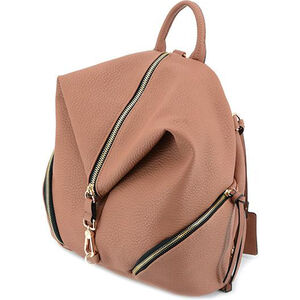 """Cameleon Aurora Teardrop Backpack Style Handbag with Concealed Carry Gun Compartment 12""""x14""""x6"""" Synthetic Leather Salmon"""