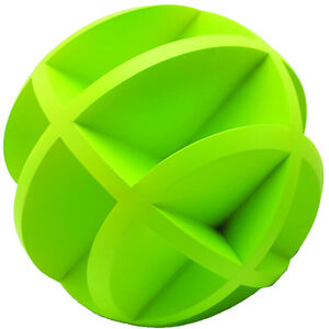 Shooting Made Easy Self-Healing Single Bouncing Ball Polymer Green