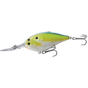 """Threadfin Shad Crankbait 2 3/4"""", Number 4 Hook Size, 12' Depth, Chartreuse/Pearl/Blue"""