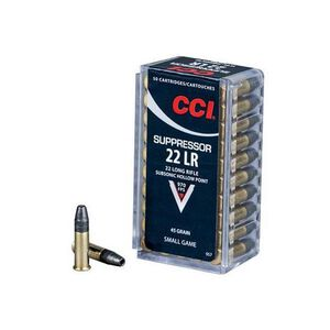 CCI Suppressor .22LR Ammunition 45 Grain Lead Hollow Point 970 fps