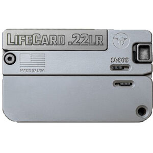 Trailblazer LifeCard .22LR Folding Single Shot Pistol 1 Round with 3 Round Ammo Storage Steel Barrel Bolt and Trigger Aluminum Frame Concrete Finish