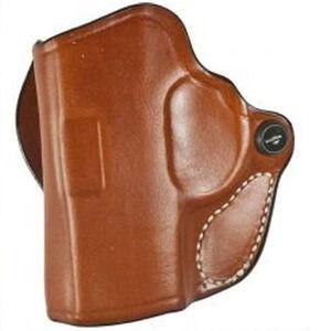 DeSantis Mini Scabbard Belt Slide Holster fits Springfield Hellcat Left Hand Leather Tan