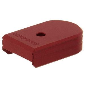 UTG PRO +0 Base Pad, CZ P07/P10C, Matte Red Aluminum