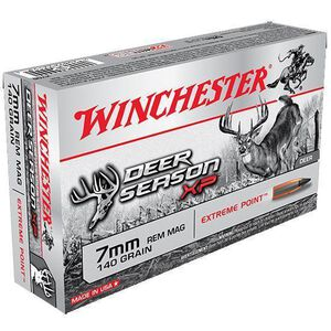 Winchester 7mm Remington Magnum Ammunition 20 Rounds Deer Season XP PT 140 Grains