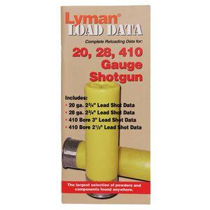 Lyman Load Data Book 16, 20, 28 Gauge, .410 Bore Shot Shells 72 Pages 9780002
