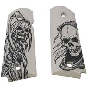 Hogue Scrimshaw Grips 1911 Officer/Compact Grim Reaper Polymer Ivory 430269