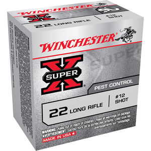 Winchester Super-X .22 LR Shot Shell Ammunition 50 Rounds #12 Lead Shot