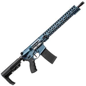 "POF USA Wonder 5.56 NATO Semi Auto Rifle 16.5"" Barrel 30 Rounds Direct Gas Impingement System 14.5"" M-LOK Free Float Rail MFT Stock Blue Titanium Cerakote"