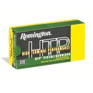 Remington .380 ACP HTP Ammunition 50 Rounds, JHP, 88 Grains