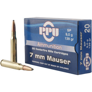 Prvi Partizan PPU Metric 7mm Mauser Ammunition 20 Rounds 139 Grain SP 2660fps